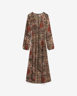 Express Paisley Kimono Cover-Up