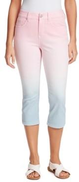 Gloria Vanderbilt Petite Curvy Ombre Capri Jeans