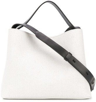 Aesther Ekme Textured Contrast Strap Bag