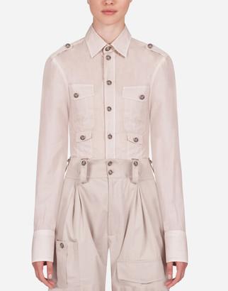 Dolce & Gabbana Poplin Safari Shirt