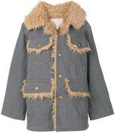Marc Jacobs oversized denim patch pocket coat