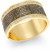 Thalia Sodi Gold-Tone Crystal Hinged Bangle Bracelet, Only at Macy's