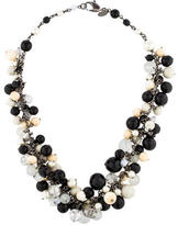 Chanel Crystal CC Bead Necklace