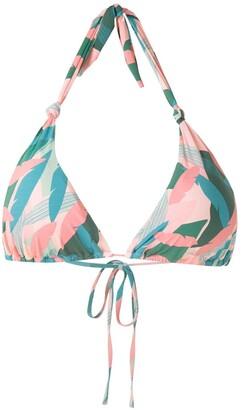 Track & Field Maldivas Abstrata printed bikini top
