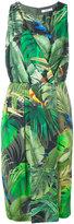Max Mara tropical print dress - women - Silk/Polyamide/Spandex/Elastane/Viscose - 40