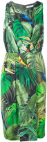 Max Mara tropical print dress - women - Silk/Polyamide/Spandex/Elastane/Viscose - 48