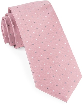 Tie Bar Suited Polka Dots Soft Pink Tie