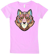Micro Me Light Pink Geometric Wolf Tee - Infant Toddler & Girls