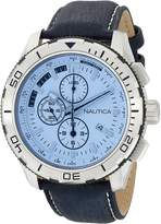 Nautica Men's NAD19519G Leather Quartz Watch