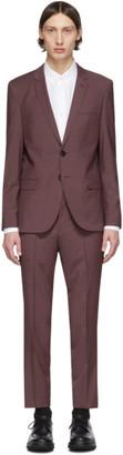 HUGO Burgundy Arti/Hesten 193 Suit