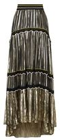 Peter Pilotto Metallic Chiffon Maxi Skirt