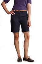 "Lands' End Women's 10"" Plain Chino Shorts-China Blue"