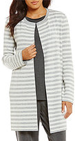 Eileen Fisher Round Neck Long Reversible Cardigan