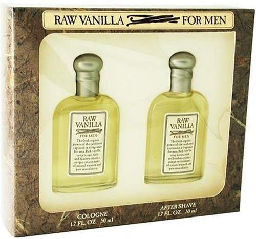 Coty Raw Vanilla Cologne by for Men. 2 Pc. Gift Set.