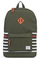 Herschel Men's Heritage Offset Backpack - Green