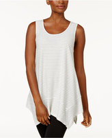 Style&Co. Style & Co Striped Handkerchief-Hem Top, Created for Macy's