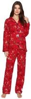 PJ Salvage Fox on Skiis Flannel PJ Set