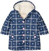 Hatley Navy Plaid with Hearts Splash Jacket Girl's Coat