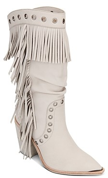 Kenneth Cole Women's West Side Fringe Mid-Calf Boots