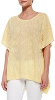 Belford Cold-Shoulder Linen-Blend Pullover