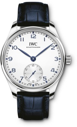 IWC Portugieser Stainless Steel & Alligator Strap Watch