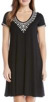 Karen Kane Women's Embroidered T-Shirt Dress
