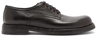 Dolce & Gabbana Textured-leather Derby Shoes - Black