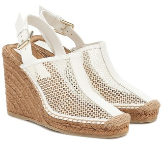 Jimmy Choo Dakori 110 leather wedge espadrilles