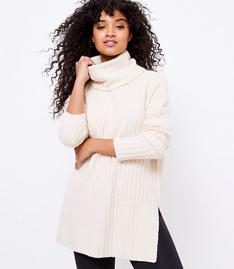 LOFT Lou & Grey Ribbed Turtleneck Tunic Sweater