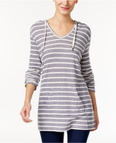 Style&Co. Style & Co. Petite Striped Hooded Top, Only at Macy's