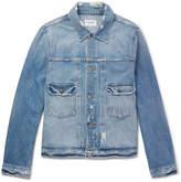 Frame L'Homme Slim-Fit Distressed Denim Jacket