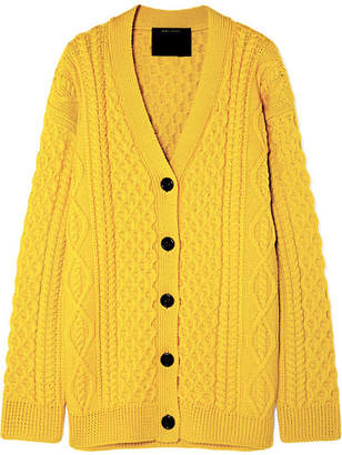 Marc Jacobs Runway Cable-knit Wool Cardigan - Yellow