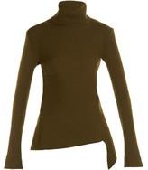 Balenciaga Diagonal ribbed-knit sweater