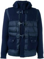 Bark ribbed padded duffle jacket