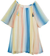 Chloé Mini Me Rainbow Silk Dress, Size 4-5