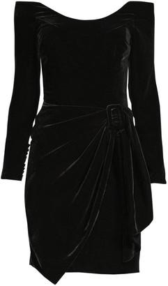 Flor Et. Al Sara Velvet Off-The-Shoulder Sheath Dress