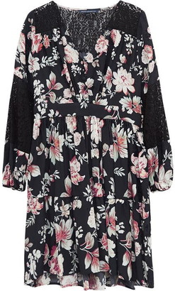 French Connection Aletta Crepe Floral Dress