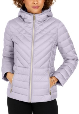 Michael Kors Michael Hooded Packable Down Puffer Coat