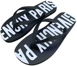 Givenchy Black Rubber Sandals