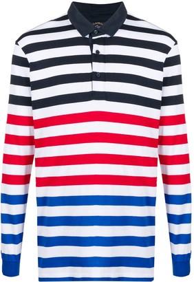 Paul & Shark Long-Sleeve Stripe Polo Shirt