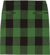Tive plaid wool mini skirt
