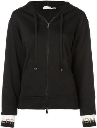 Moncler Zip Front Logo Hoodie