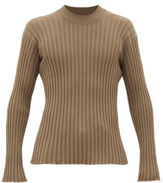 Deveaux Crew-neck Rib-knitted Jersey Sweater - Khaki