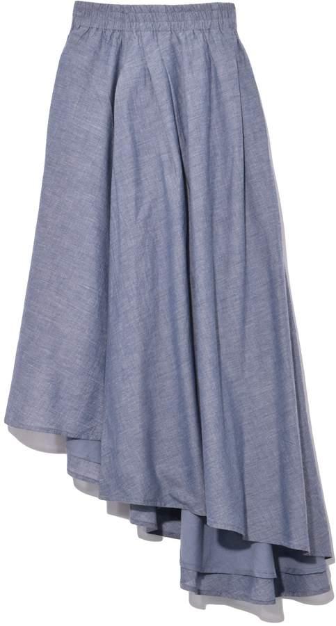 Apiece Apart Turkanna Asymmetric Skirt in Chambray