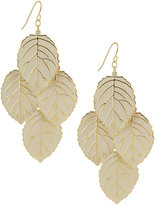 Lacquered Leaf Dangle Earrings