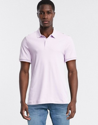 Selected polo shirt in lilac