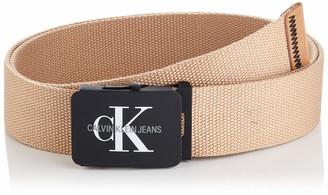 Calvin Klein Jeans Men's J 4cm Adj.Monogram Canvas Belt