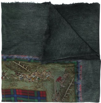 Avant Toi Paisley Embroidered Cashmere Scarf