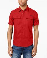 Sean John Men's Dual Pocket Linen Shirt