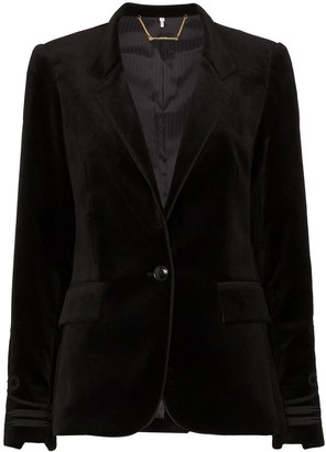 Frame Stand-Collar Embroidered Blazer